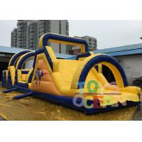 China 18m Length Giant Adult Inflatable Obstacle Course Game For Teambuilding Sport wholesale