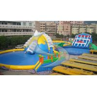 China Inflatable water park / inflatable pool park giant slide air tight pvc tarpaulin wholesale