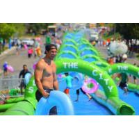 China 200m green lane inflatable slide the city for sale wholesale