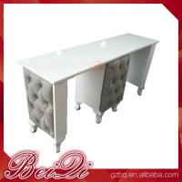 Quality Modern manicure table vacuum and nail salon furniture cheap nail table white for sale