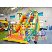 China Safety Giant Beautiful Inflatable Slides 0.55 PVC Tarpaulin For Children wholesale