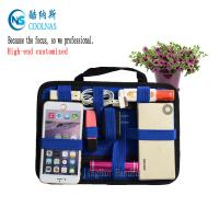 China Fashion Blue Color GRID Gadget Organizer Digital Gadget Cable Organizer wholesale