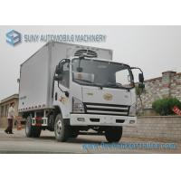 China FAW Light Duty 3000KG Refrigerated Box Truck Fresh Meat And Fish Transport Truck wholesale
