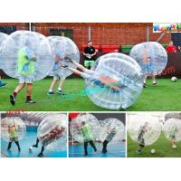 China Transparent Body Zorb Ball / Bubble Football Ball / Bubble Bumper Ball With TPU wholesale