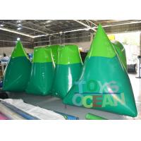 China Blue / Green Inflatable Paintball Obstacle Paintball Air Bunkers For Shooting Game wholesale