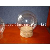 China Ball shape glass lamp shade with wooden lid wholesale wholesale