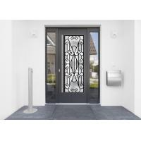 Buy cheap 22*64 Inch Wrought Iron Security Doors Glass Agon Filled Shaped Wrought Iron from wholesalers