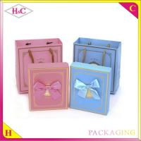 China Luxury handmade bowknot paper gift box with ribbon flower wholesale