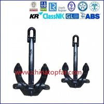 China Hall anchor,bow anchor,marine stockless anchor, Type A B C hall anchor wholesale