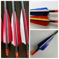 China red feather arrow, carbon arrow, carbon fiber arrow, shooting arrow, white feather arrow wholesale