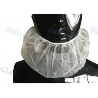 China Disposable White Elastic Surgical Beard Cover , 10gsm PP Disposable Beard Net wholesale