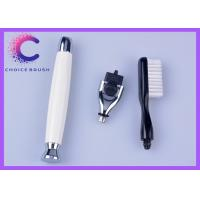 China Stainless zinc alloy Travel Shave Brush handle Spa toothbrush and Mach3 razor kits for men wholesale