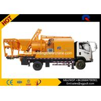China Truck Mounted Concrete Pump  , Concrete Truck Mixers 28m³ Max Mixing Output wholesale