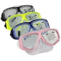 China Anti Fog Diving Adult Snorkel Mask PC Frame Colorful Tempered Glass Lens wholesale