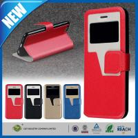 China Premium Smart View Apple iPhone 6 Plus Case Leather Wallet 5.5 inch wholesale
