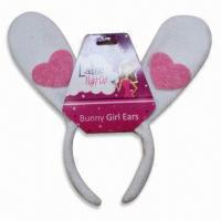 China Bunny Headband, Made of Non-woven, Available in Various Colors wholesale