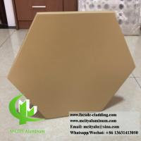 China Hexagon Panel External Wall Cladding , Aluminium Panel Sheet 1.5mm Thickness wholesale