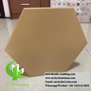 China Hexagon Panel External Wall Cladding , Aluminium Panel Sheet 1.5mm Thickness wholesale