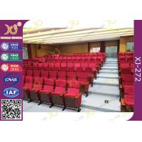 China Cover Shaped University Lecture Room / Church Hall Chairs With Customized Sewing Logo wholesale