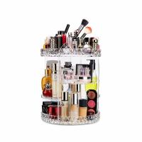 Quality Plus size 360-degree rotating adjustable multi-function makeup storage organizer for sale