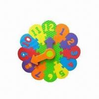China EVA Educational Puzzle Clock, Customized Shapes and Colors are Welcome wholesale