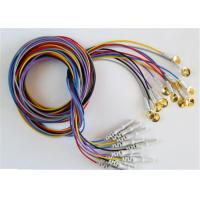 China Colorful EEG Cables With Sliver Plating Cup Electrodes Shielding Wire Optional wholesale