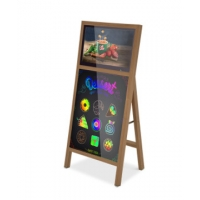 China floor standing 21.5 Inch Indoor Digital Lcd Signage With Led Writing Board on sale