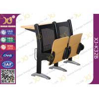 China College Steel Back Aluminium Station School Desk And Chair With Patent Seat wholesale