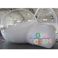 Quality DIA 4M Advertising Inflatables Transparent Inflatable Bubble House With Tunnel for sale