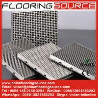 China Stainless steel grating entrance mat  scrape dust drain water wholesale