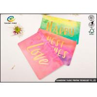 China Custom Colorful Paper Birthday Wishes Greetings Card Glossy Lamination wholesale