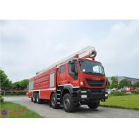 Quality IVECO Chassis Water Tower Fire Truck High Spraying 500mm Fording Depth for sale