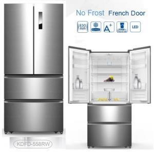 China Auto Defrost French Fridge Freezer , French Door Style Refrigerators 4 Star Rating wholesale