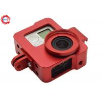China 3 Colors CNC Action Camera Accessories Aluminum Frame With Screws Lens Cap wholesale
