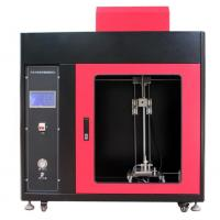 China Automotive Interior Material Vertical Combustion Tester with PLC + Touch Screen Control on sale