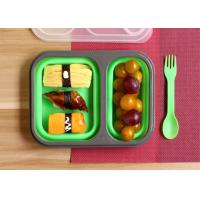 China Leak Proof Silicone Lunch Containers , Reusable Bento Lunch Boxes Non - Toxic wholesale