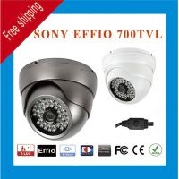 China Free Shipping Effio Sony CCD 960H 700TVL Color 48 IR Indoor Outdoor CCTV Dome Security Camera 15 IR Distance wholesale