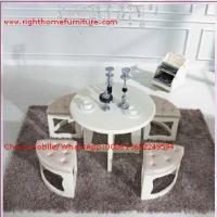 China White painting Circular Leisure time tea table and upholstery stool wholesale