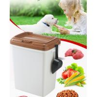 China 40L 15kgs 17lbs high quality stocked customized pet food storage container bucket dispenser dog food can box for dog cat wholesale
