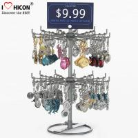 China Turnable Keychain Counter Display Racks / Retail Hanging Display Racks 2-layer wholesale