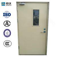 China 55/52 Mm Thick Paint Fire Resistant Wooden Doors With Glass Insert CCC Standard on sale