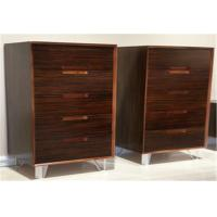 China Modern Vertical Storage Cabinet With 5 Drawers , Popular Walnut Wooden Cabinet wholesale