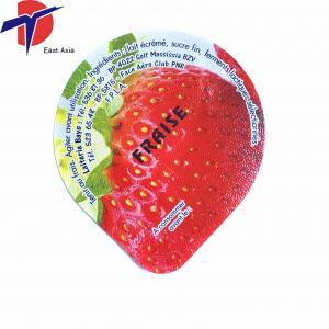 China HOT Sale! aluminum foil lid plastic yogurt cup lid colored aluminum foil for plastic yogurt on sale