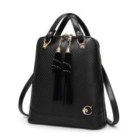 China 27 * 30 * 12 Cm Fashion Ladies Backpack Tassel Decoration With Premium PU Leather wholesale