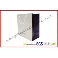 China Colorful Printed Custom Paper Gift Bags With Cotten Handles , Spot UV Logo Paper Shopping Bags wholesale