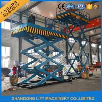 China 2T 7m Portable Stationary Hydraulic Scissor Lift Table High Strength Manganese Steel wholesale