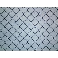 China Hot-dipped Galvanized black vinyl chain link fence 2.1m*10mx50x50mm wholesale