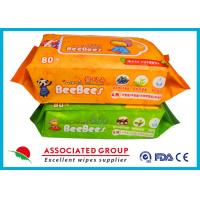 China Plant Vera Series  Baby Wet Tissue Big Sticker For Hand & Body Cleaning wholesale