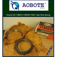 China Single Row Tapered Roller Bearings L725349 / L725311 , Chrome Steel wholesale