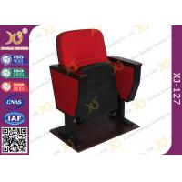 Buy cheap Black Cold Rolled Double Leg Concert Hall Auditorium Chairs Plywood Armrest For Interior from wholesalers